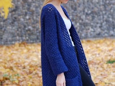 Long Crochet Cardigan easy pattern