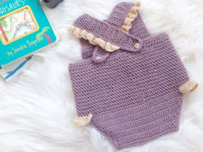 crochet Baby Summer Romper easy pattern