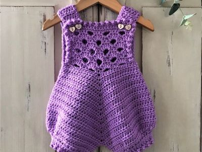 crochet Newborn Baby Romper easy pattern