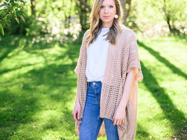 crochet Perfect Summer Poncho free pattern