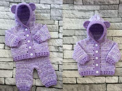 Newborn Hooded Cardigan & Trousers Set