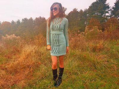 crochet Magic Skirt and Sweater Set easy pattern