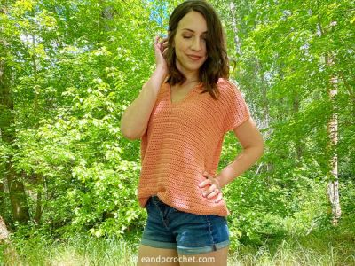 crochet Sweet Summer Tee free pattern
