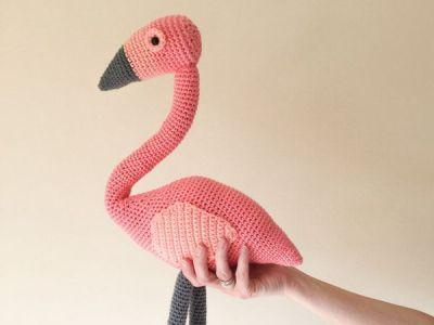 crochet Flamingo amigurumi easy pattern