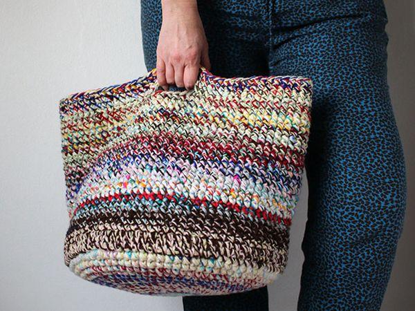 crochet Scrap Yarn Basket free pattern