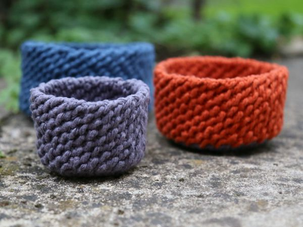 crochet Lobster Tail Baskets free pattern