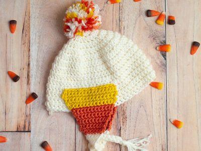 crochet Candy Corn Baby Hat free pattern