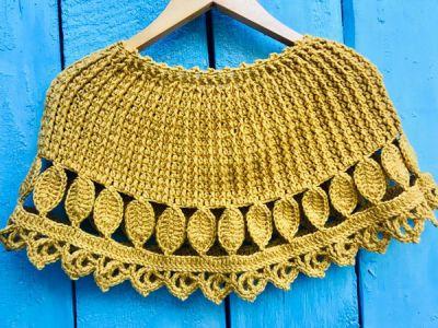 crochet November Leaves Cape easy pattern