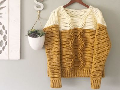 crochet Pineapple Crown Sweater free pattern