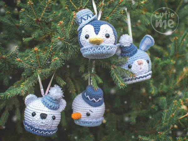 crochet Christmas Balls Set easy pattern