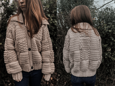 crochet Chunky Patchwork Cardigan free pattern