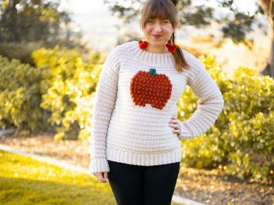 crochet Pumpkin Pullover free pattern