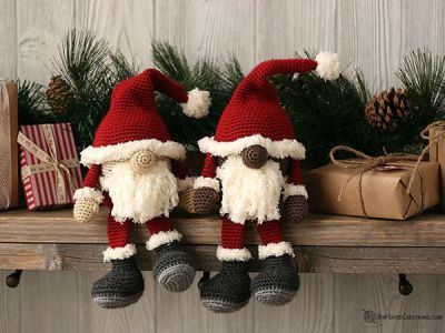crochet Santa Gnome free pattern