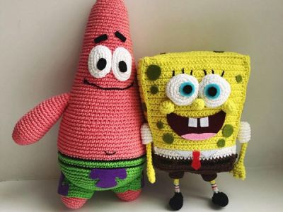 crochet Sponge Bob and Patrick Star easy pattern