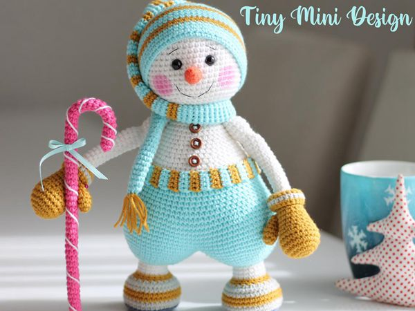 crochet Sweet Snowman easy pattern