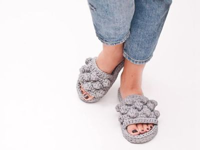 crochet Bubble Slippers easy pattern