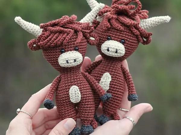 crochet Bull free pattern