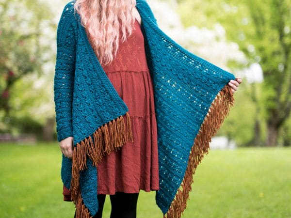 crochet Kingfisher Cardigan easy pattern