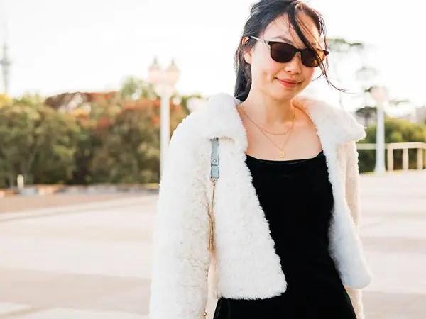crochet Snow Bloom Faux Fur Coat free pattern