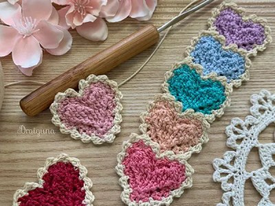 crochet Higher Love Motif free pattern