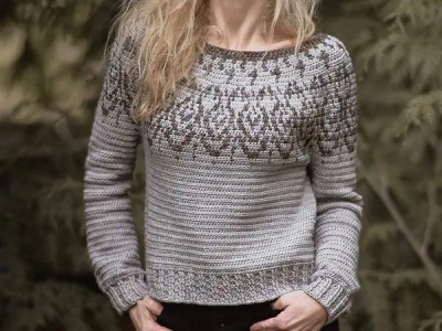 crochet The Night Story Sweater easy pattern