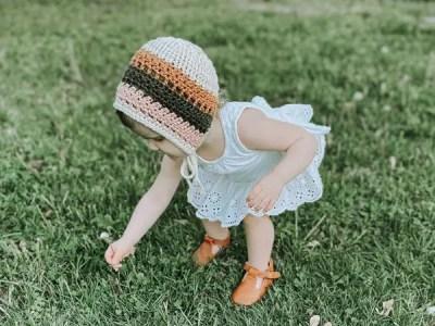 crochet lilah Bonnet easy pattern