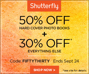 Shutterfly Labor Day 40% Off - 300x250