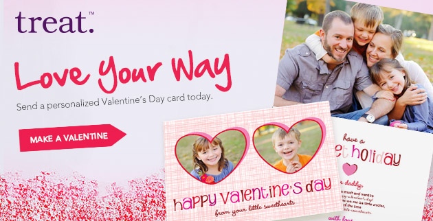 Valentines Day Greeting Cards from Treat