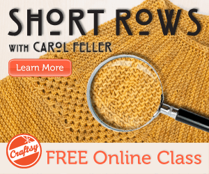 free short rows knitting class at craftsy.com