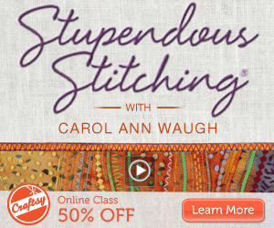 Stupendous Stitching Online Quilting Class at Craftsy.com