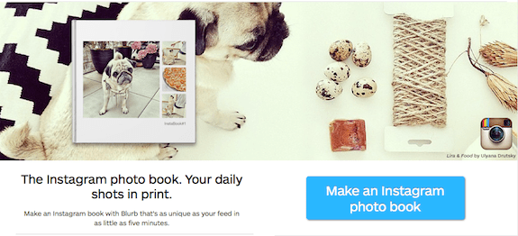 With Blurb, you can take all of your Instagram shots and turn them in to a high quality printed book in just minutes.