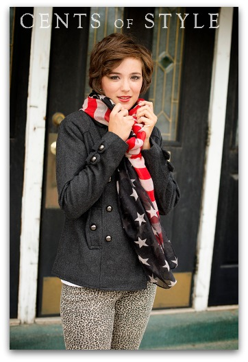 Fashionable Stars & Stripes Scarf $9.95 Shipped with code FALLSCARF