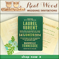 Art of Weddings PDX | Real Wood Wedding Invitations by Night Owl Paper Goods