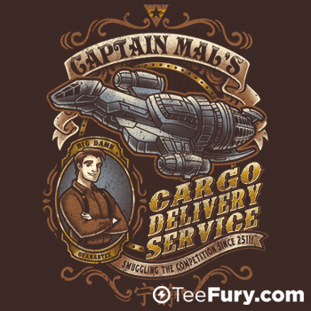 Captain Tight Pants Delivery at TeeFury.com
