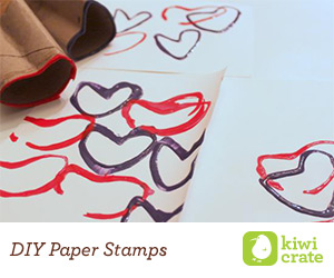 DIY Paper Roll Heart Stamp
