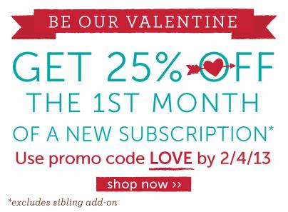 Kiwi Crate Valentine's Day Sale - use promo code LOVE ››