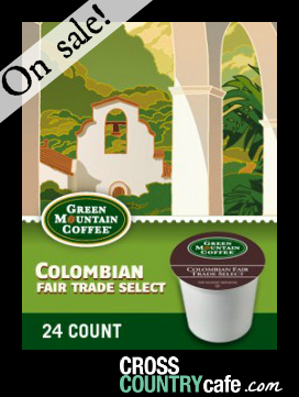 Green Mountain Colombian Keurig Kcup coffee