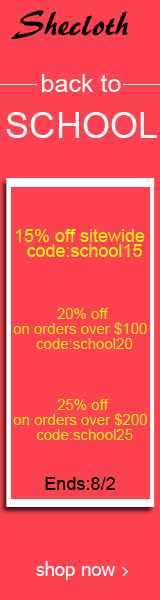 Save up to 25% off during the Shecloth.com Back to School Sale!  Ends 8/2!