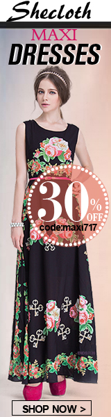 Save 30% off on Maxi Dresses at Shecloth.com!  Enter code MAXI717 at checkout.