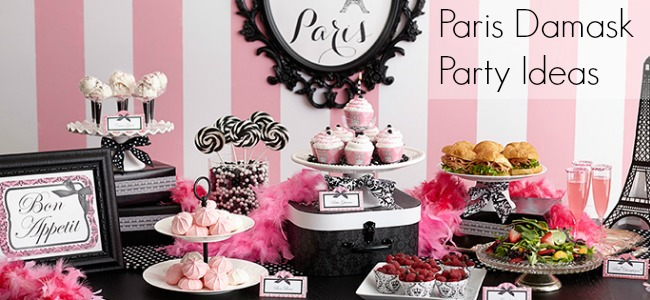 Paris Damask Party Ideas