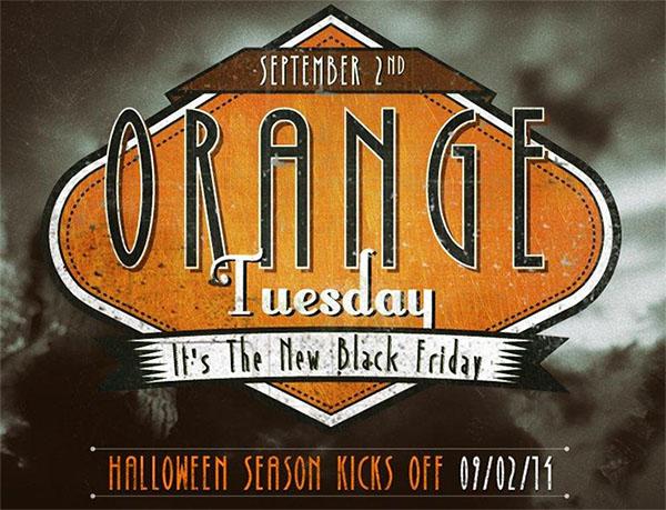 Orange Tuesday at BuyCostumes.com