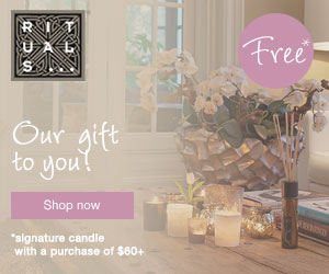 Free Signature Scented Candle with $60 Purchase at RITUALS...