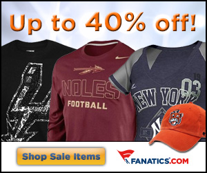 Get up to 40% off on select officially licensed merchandise at Fanatics!