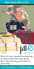 jill-e designs camera cags have room for everything you need for game day