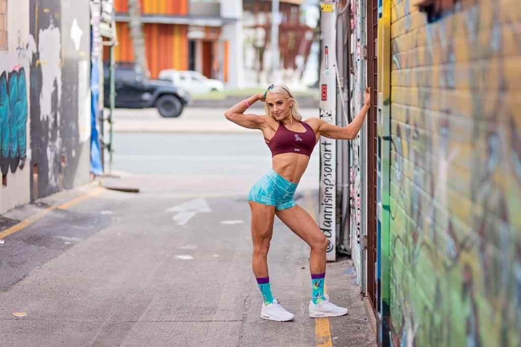 Fitness photo shoot IFBB Pro Jacquie Mync