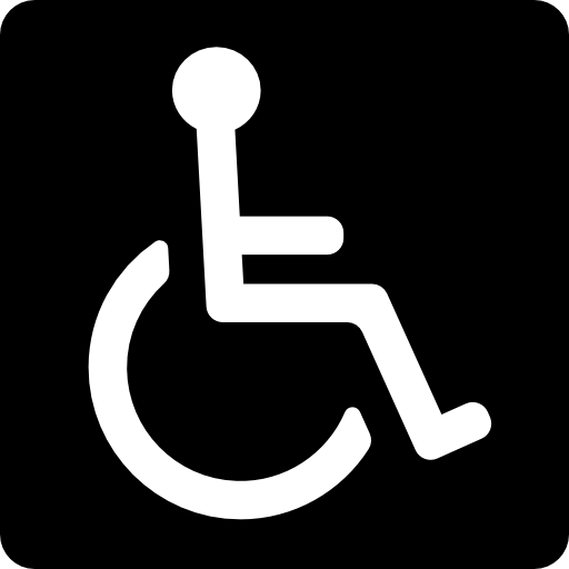 Discapacity Disabled Disability Signs Square Signal