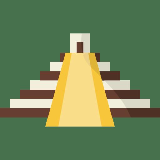 Yucatan Mexico Maya Monuments Pyramid Icon