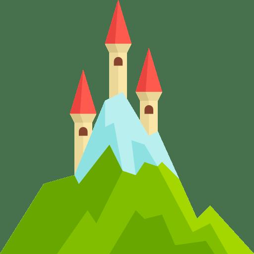 Landscape Castle Fortress Fantasy Medieval Monuments