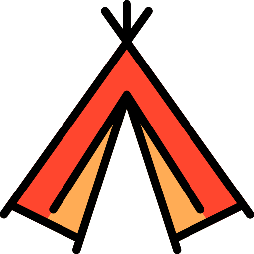Camp Indian Camping Tent Icon