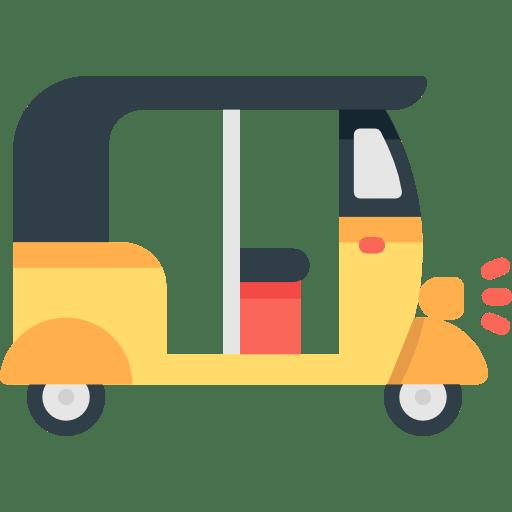 Tourism Transportation Tuk Tuk Rickshaw Three Wheeler Icon